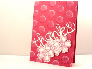Stampin' Up! UK Dots and Stripes Stencil Craft Ink Video Tutorial
