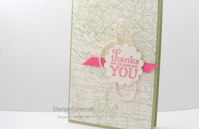 Stampin' Up! UK World Map Me = grateful