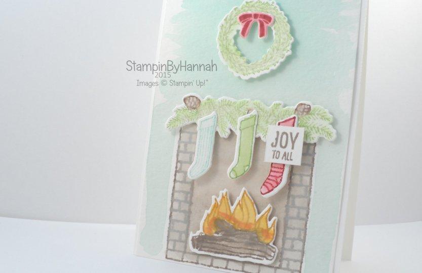 Stampin' Up! UK Festive Fireplace