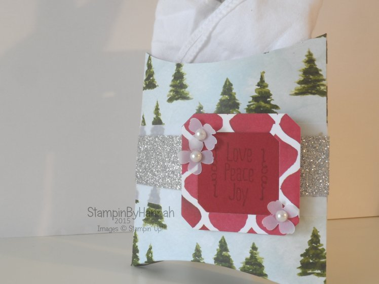 Stampin' Up! UK pillow box cutlery holder