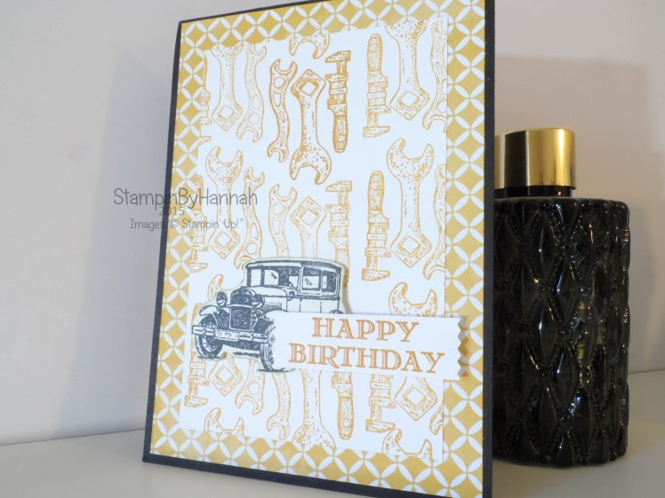Stampin' Up! UK Guy Greetings mens birthday card