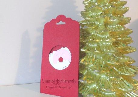 Stampin' Up! UK Santa punch art