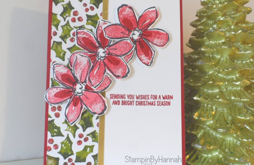 Stampin' Up! UK Christmas Cards Cherry Cobbler