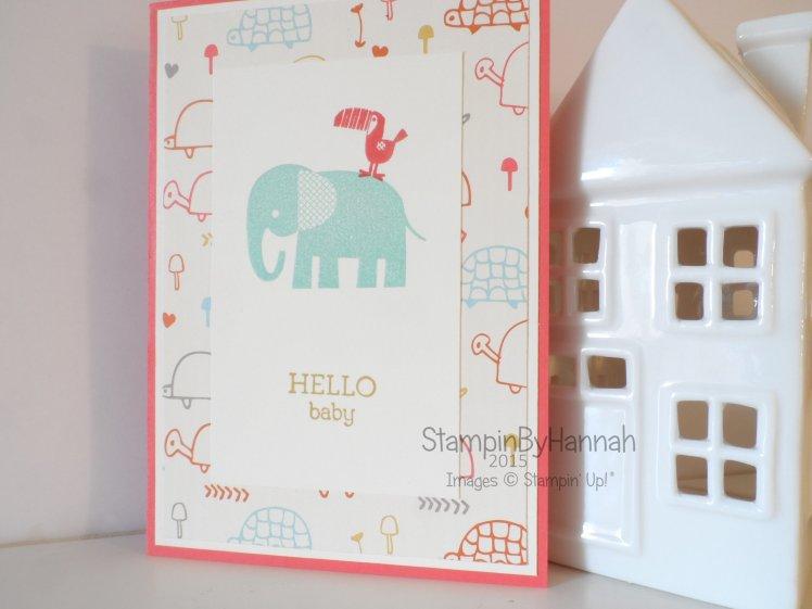 Stampin' Up! UK baby card