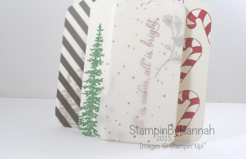 Stampin' Up! UK Quick Christmas tags