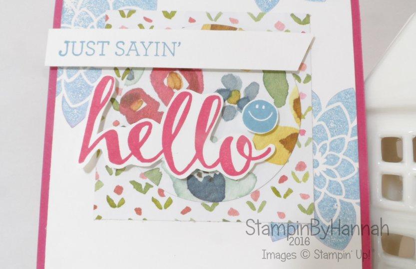 Stampin' Up! UK Just Saying Hello