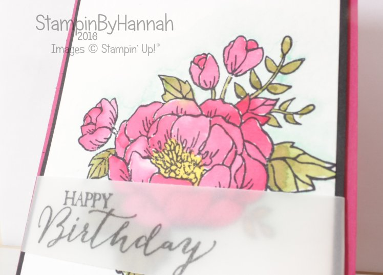 Stampin' Up! Uk Birthday Blooms Watercolour