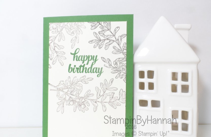 Stampin' Up! UK Mens birthday card An Open Heart