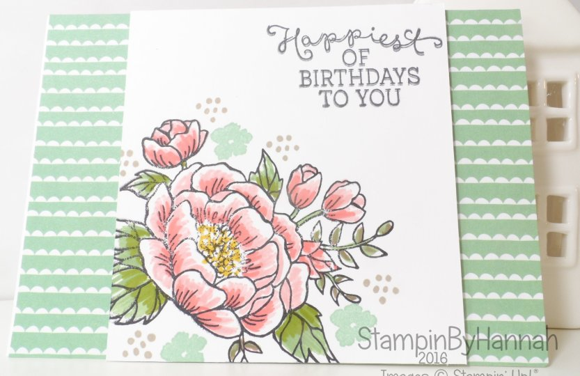 Stampin' Up! UK Birthday Blooms Card