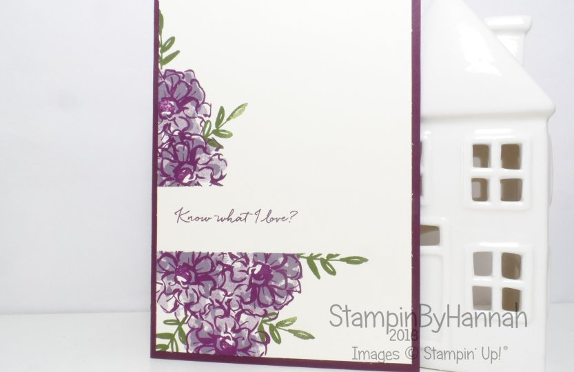 Stampin' Up! UK What I Love Blackberry Bliss