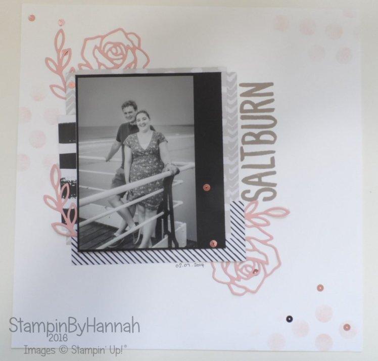 12x12 Scrapbook page Go Wild Designer Series Paper Rose Wonder Stampin' Up! UK