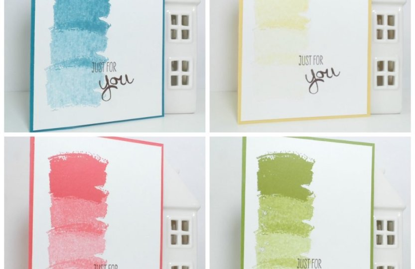 Note card set featuring Work of Art from Stampin' Up!
