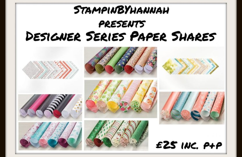 Designer Series Paper Share Stampin' Up! Uk from stampinbyhannah