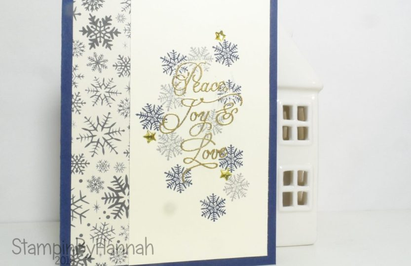 Quick and easy christmas card using Peace this Christmas from Stampin' Up! UK