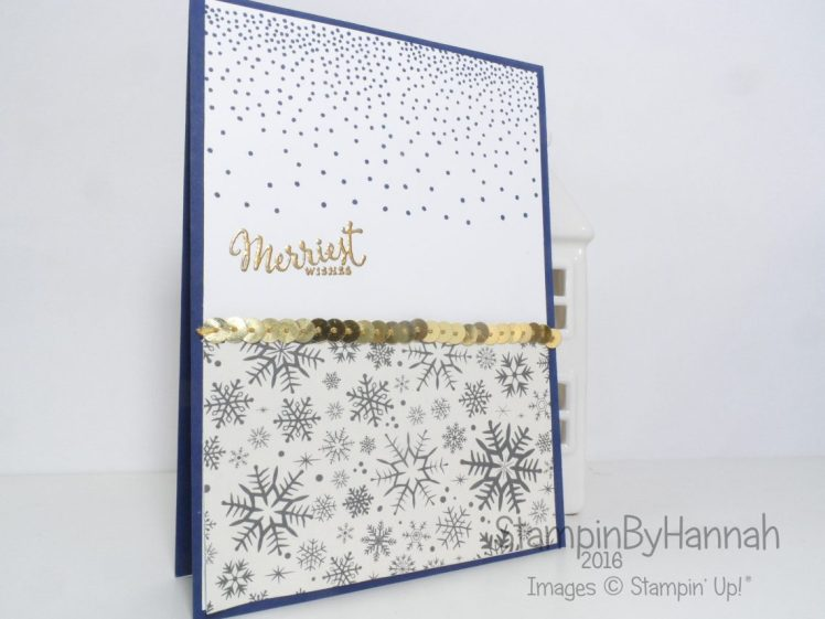 Simple Christmas Card using Merriest Wishes from Stampin' Up! UK