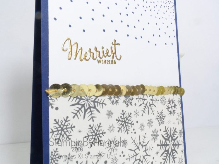 Gold Christmas Card using This Christmas and Merriest Wishes from Stampin' Up! UK