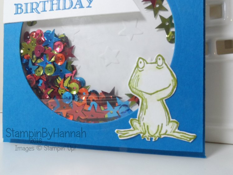 Cute Shaker Card using Lots of Love from Stampin' Up! UK