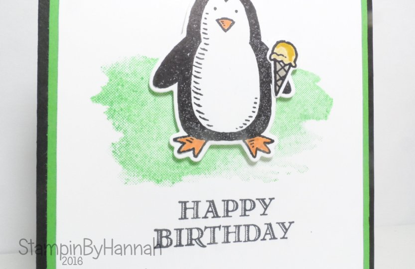 Boys Birthday Card using Snow Friends from Stampin' Up! UK