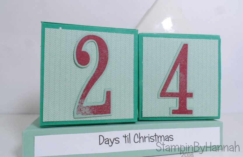 Christmas Countdown perpetual advent calendar using Presents and Pinecones from Stampin' Up! UK