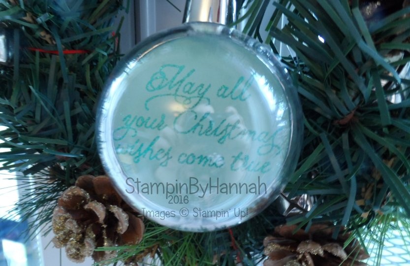 12 Days of Christmas DIY bauble using Peace this Christmas from Stampin' Up!