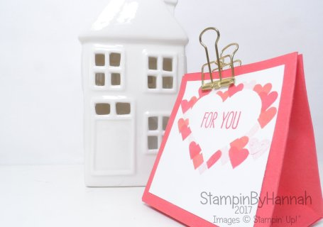 Love Hearts week Valentines papercraft using Jar of Love from Stampin' Up! UK