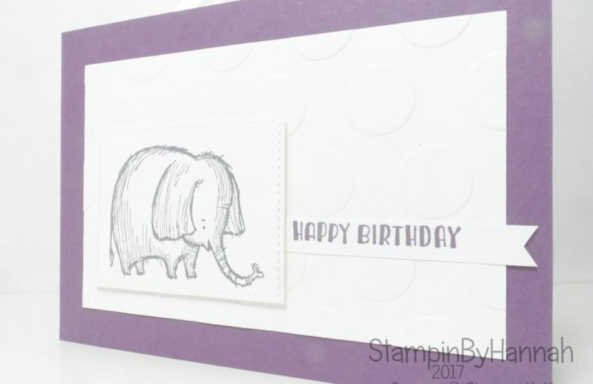 Elephant Birthday card using Designer Tee and Love you Lots from Stampin' Up!