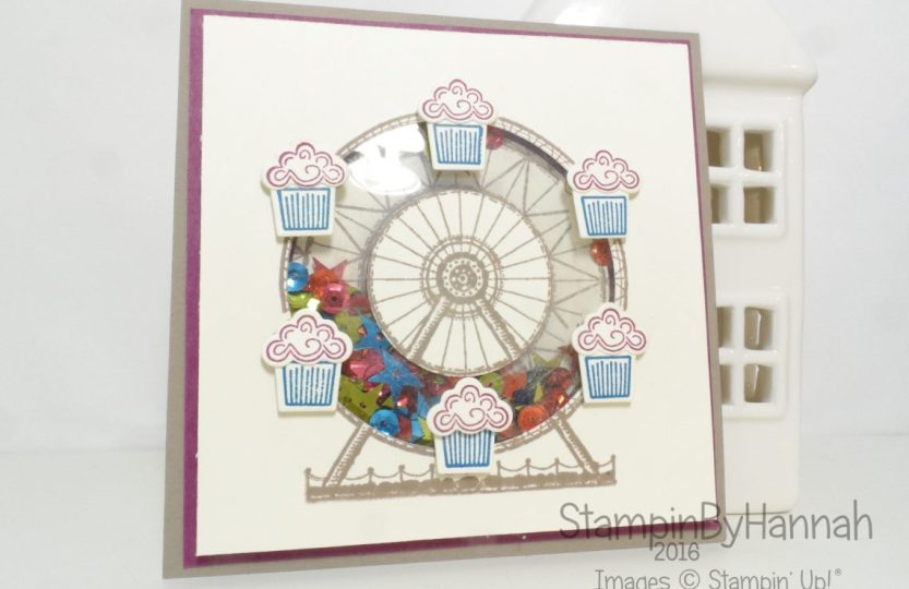 Make It Monday Shaker Card tutorial using Carousel Birthday from Stampin' Up!