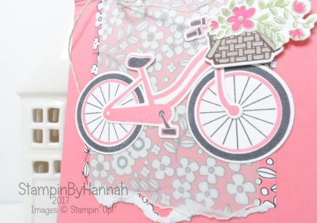 Technique Card Making Video Tutorial 2 step stamping using Bike Ride from Stampin' Up!