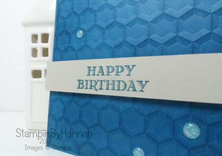 Card making techniques 3D Embossing using Stampin' Up! products