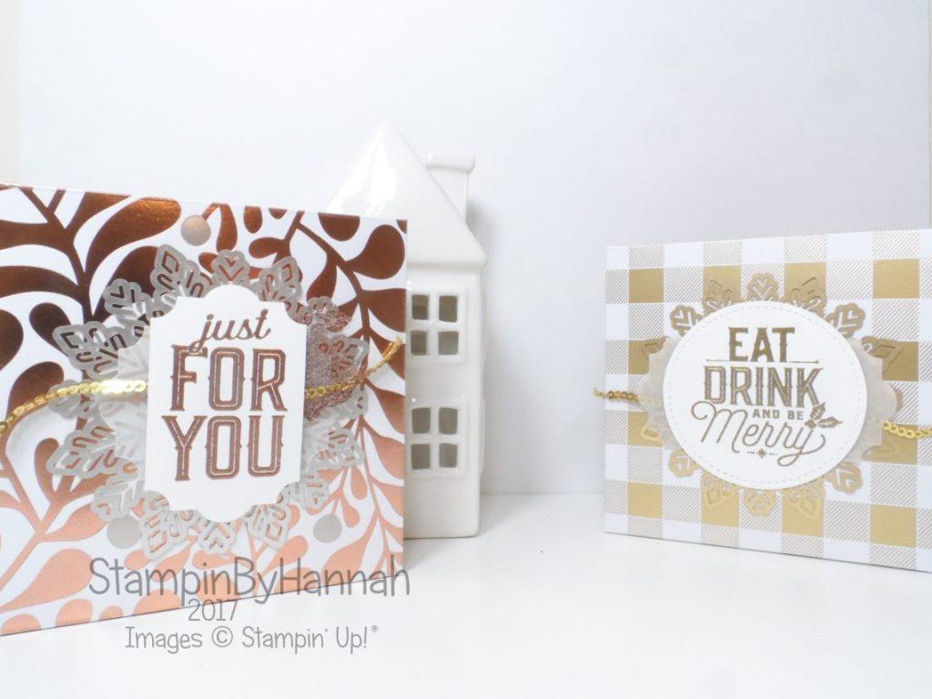 Chocolate Truffle box using Year of Cheer from Stampin' Up!