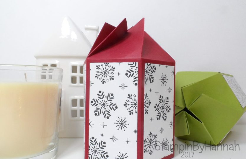Christmas Countdown Pootles Papercraft inspired twist and close box for candle in a jar using Stampin' Up! products