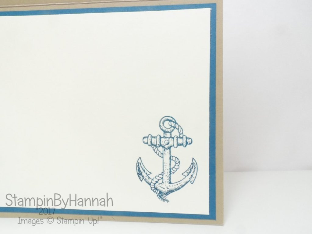 Guy Greetings Nautical Birthday card using Stampin' Up! products
