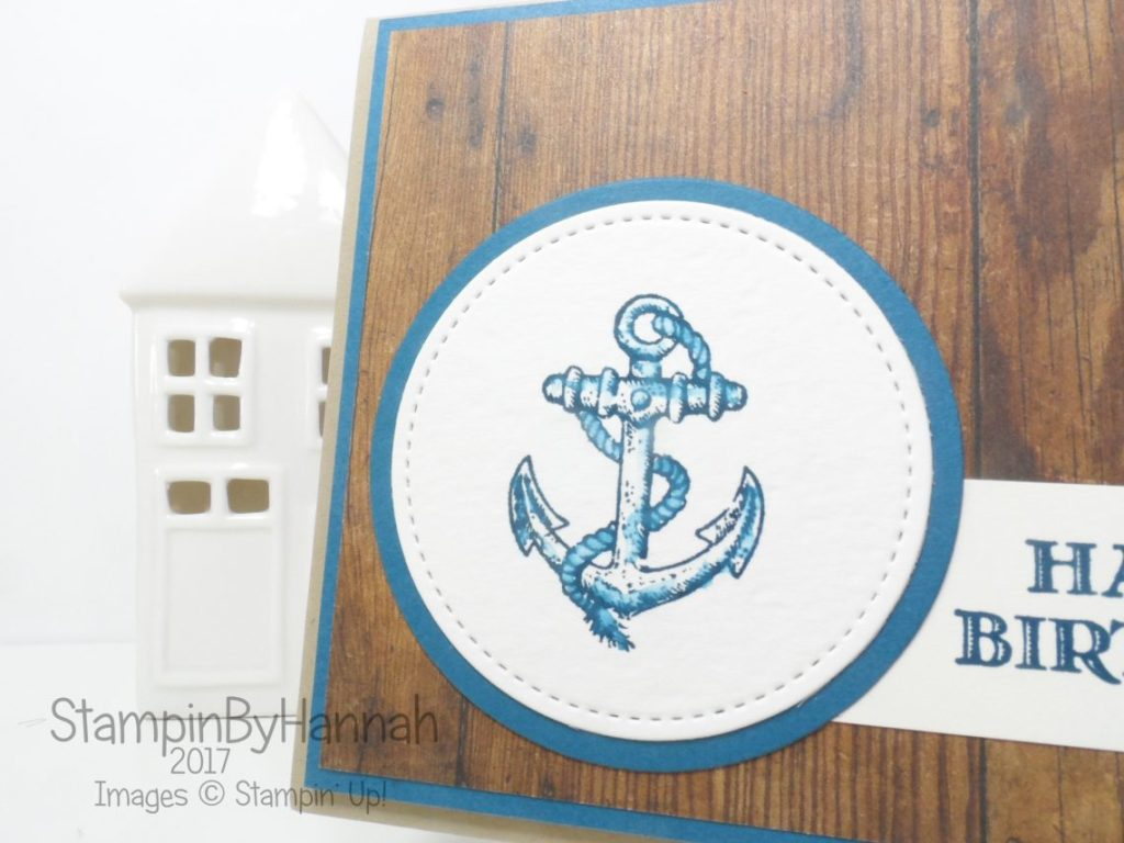 Guy Greetings Birthday Card using Wood Textures from Stampin' Up!