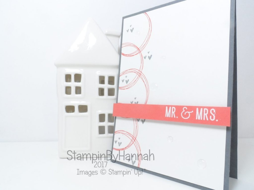 Year of Cheer Wedding Card using Stampin' Up! products