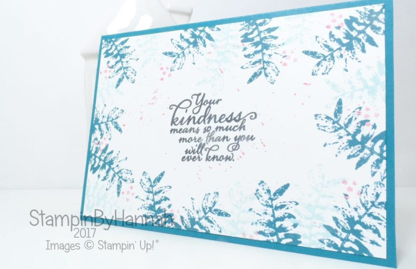 Inspire Create Challenges Kindness Card Colour Combination Challenge using Painted Harvest from Stampin' Up!