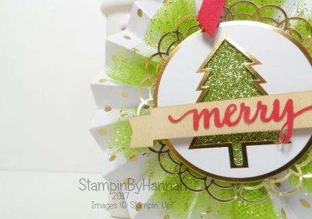 Make It Monday How to Make Christmas ornaments using the Be Merry Kit from Stampin' Up!