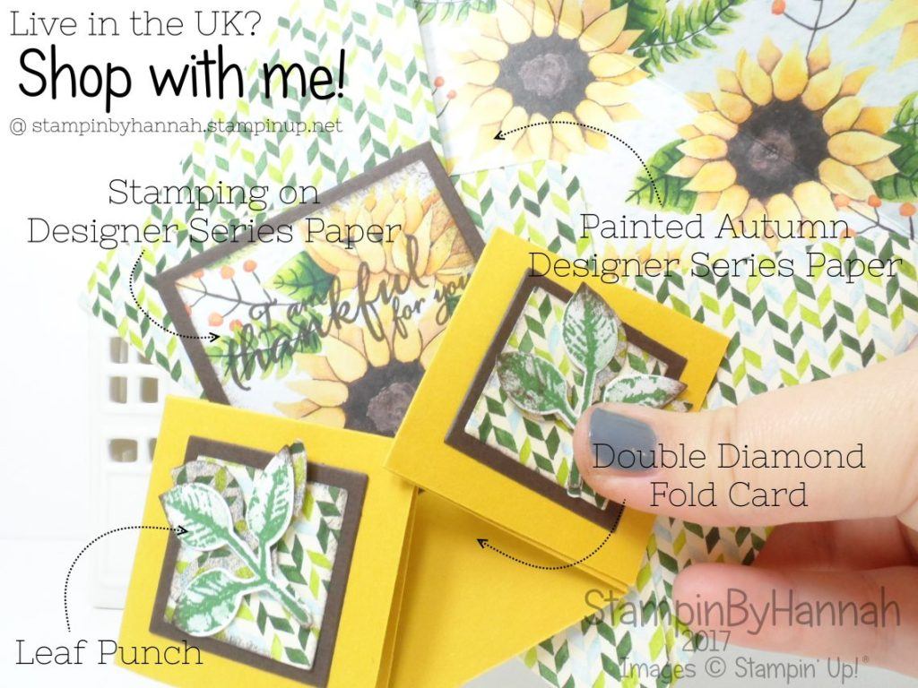 Inspire.Create.Challenge How to make a Fancy Fold card using Painted Harvest from Stampin' Up!