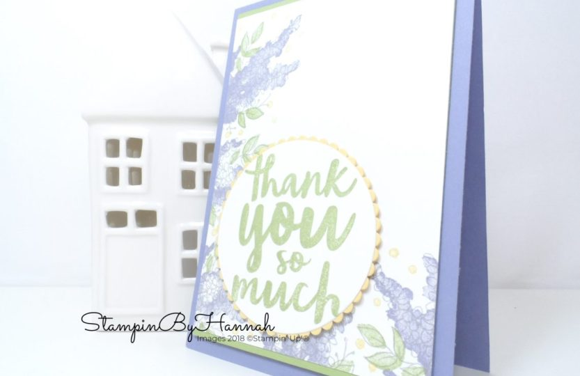 Quick and Easy Lots of Lavender Thank You card using Stampin' Up! Stamps