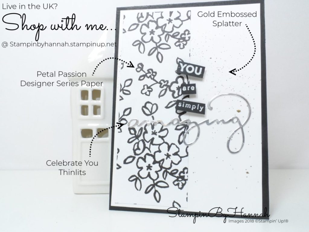 How to make a fun Congratulations card using Sale-a-bration stamp set Amazing You from Stampin' Up!