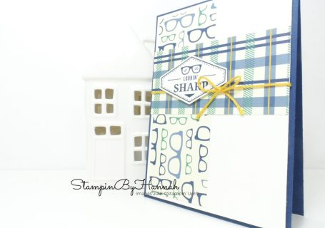 Fun card for guys using Truly Tailored from Stampin' Up!