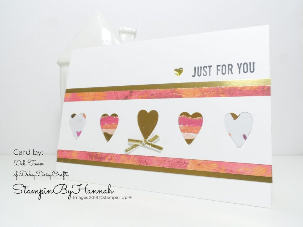 Pootlers Spring Summer Team Swaps using Painted with Love from Stampin' Up!