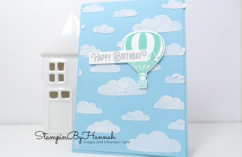 Lift Me Up Birthday Card Using Embossing Paste Stampinbyhannah