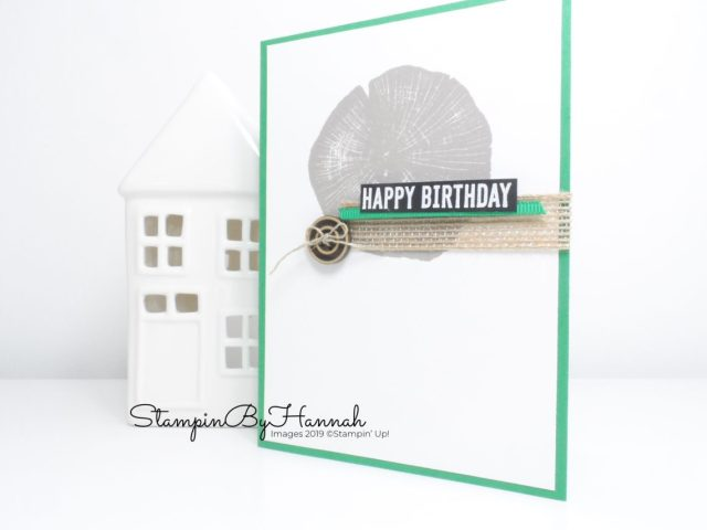 Rooted in Nature birthday card for men using Stampin' Up! products with StampinByHannah