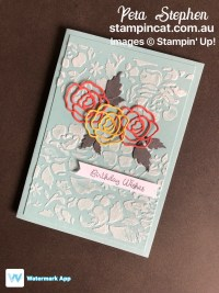 Stampin' Cat CI34 Detailed Floral Thinlits Embossing Paste