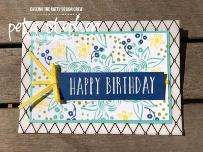 Stampin' Cat CTC186 Perennial Birthday Graceful Glass