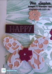 Stampin' Cat Marbled Blooming' Heart Stamping' Up!