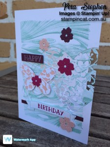 Stampin' Cat Marbled Bloomin' HeartStampin' Up!