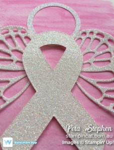 Stamping Cat Ribbon of Courage