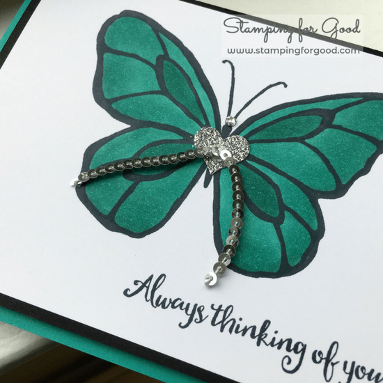 Stamping-for-Good-Stampin-Up-Card-Idea-Beautiful Day Butterfly Thinking of You