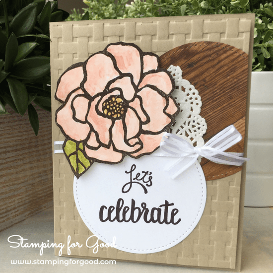 Stamping-for-Good-Stampin-Up-Card-Idea-Beautiful Day Rose Lets Celebrate